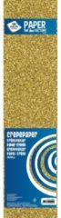 Goudkleurige Crepe alu papier plat glitter goud 150 x 50 cm - Knutselen met papier - Knutselspullen