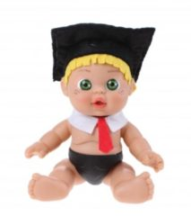 Falca Babypop Professor 19 Cm Meisjes Zwart