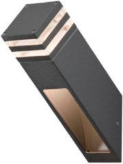 Konstsmide Buitenlamp 'Massa' Wandlamp, PowerLED 2 x 4W / 230V, kleur Antraciet