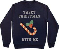 Marineblauwe Bulbby Kersttrui Sweet Christmas maat S