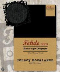 Fohde Hoeslaken Jersey hoeslaken - 90 X 210 cm - Zwart