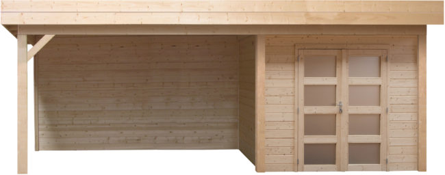 Afbeelding van Woodvision Topvision | Buitenverblijf Kolibri met zijluifel 300 cm