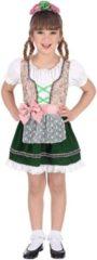 Roze Widmann Boeren Tirol & Oktoberfest Kostuum | Bella Van Beieren Alpen | Meisje | Maat 104 | Bierfeest | Verkleedkleding