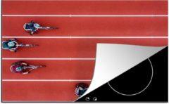 KitchenYeah Luxe inductie beschermer Vogelperspectief Sport - 80x52 cm - Vogelperspectief rolstoelsport - afdekplaat voor kookplaat - 3mm dik inductie bescherming - inductiebeschermer