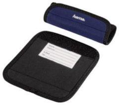 Donkerblauwe Hama Travel bagage handvat omslag set 2 stuks blauw