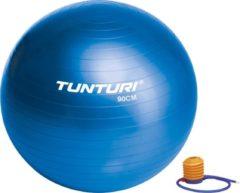 Tunturi Fitnessbal - Gymball - Swiss ball - Ø 90 cm - Inclusief pomp - Blauw