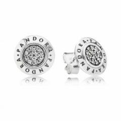 Zilveren Pandora Zilverren Oorsieraden met ZIrkonia