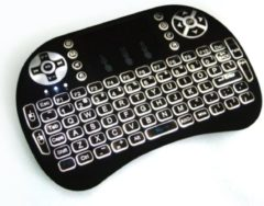 Zwarte I8 Mini wireless Keyboard, draadloos toetsenbord met BACKLIGHT
