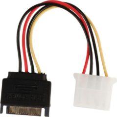Interne stroom adapterkabel SATA 15-pins mannelijk - Molex vrouwelijk
