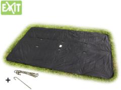 Zwarte EXIT Supreme Ground Level ingraaftrampoline afdekhoes rechthoekig - 214 x 366 cm