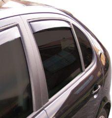 Zwarte ClimAir Zijwindschermen Master Dark (achter) Fiat Linea sedan 2007