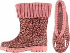 Merkloos / Sans marque Roze kinder regenlaarzen met voering 35