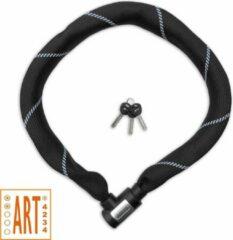 Zwarte LYNX ART2 Kettingslot | Premium Kwaliteit | 8,3mm x 110cm | Gehard staal | 2250g | Zachte mesh | Fietsslot E-bike slot Brommerslot