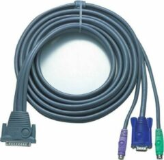 Aten 16ft PS/2 toetsenbord-video-muis (kvm) kabel 4,87 m Grijs