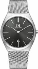 Zilveren Danish Design watches edelstalen herenhorloge Tåsinge Grey Silver Large Mesh IQ64Q1236