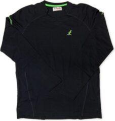 Marineblauwe Australian Heren T-Shirt - Long Sleeve - Navy Blauw - Groen - Maat M (50)