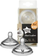 Transparante Tommee Tippee Closer to Nature Flesspeen x2 - Snelle Stroom
