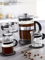 9tlg. Kaffee- und Teebereiter-Set 'Bristol' Esmeyer Transparentes Glas mit Edelstahl