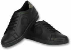 Cash Money Heren Schoenen - Heren Sneaker Tiger Black - CMS16 - Zwart - Maten: 43