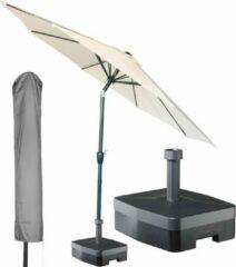 Kopu® ronde stokparasol 300 cm Calma met hoes en voet - Naturel