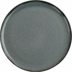 Blauwe Kitchen trend - servies - gebaksbord - Petrol ocean - porselein - set van 4 - rond 19 cm