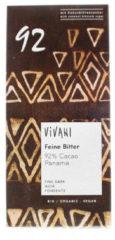 Vivani Chocolade puur delicaat 92% Panama 80 Gram