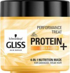 Gliss Performance Treatment 4-in-1 Voedingsmasker Voedend Haarmasker Eiwit + Sheaboter 400ml