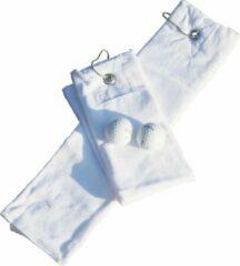 Witte A&R Golf Handdoekje DeLuxe Velours White 400 gram - Set 5 stuks