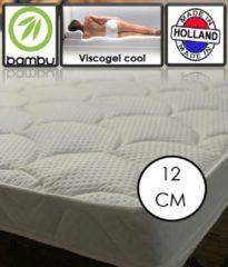 Witte OmRa bedding scandic Bamboo Coolgel - Viscogel Topper - 12cm dik - 80x220cm