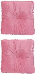 Rosa Maison Glamour Deko-Kissen aus Samt, 2tlg.