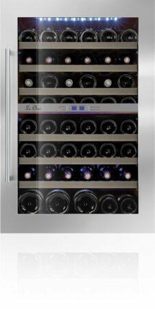 Afbeelding van Blauwe Le Chai LB555 - Inbouw Wijnkoelkast - RVS - 50 flessen - 2 Temperatuurzones