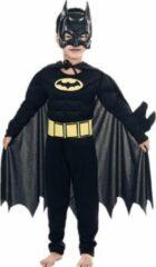 Zwarte WiseGoods Batman Kostuum - Jongens - Stoer - Verkleedkleding - Kinderkostuum - Carnaval - 4-5 Jaar - 104-110 - Dress Up - Verkleden