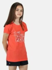 Koraalrode Regatta Model Regatta Unisex T-shirt Maat 140