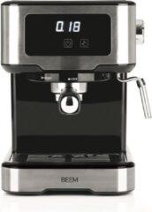 Zilveren BEEM, Espresso Machine Select Touch, 15 bar – touchscreen, koffiezetapparaat, 1100W, koffiemachine,