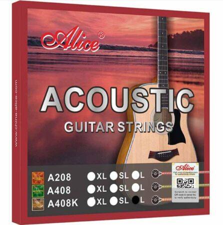 Afbeelding van Bronze Alice® A408K-L-Premium Gitaarsnaren Set-Snaren voor akoestische gitaar