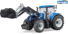 Grijze Bruder® tractor 03121, New Holland T7.315 met frontlader