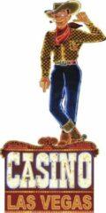 Oranje Signs-USA Las Vegas Casino Cowboy - Retro Wandbord - Metaal