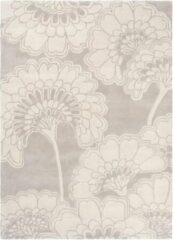 Florence Broadhurst - Japanese Floral 39701 Vloerkleed - 170x240 cm - Rechthoekig - Laagpolig Tapijt - Klassiek - Grijs, Wit