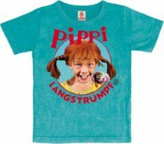 Turquoise Logoshirt Unisex T-shirt Maat 92/98