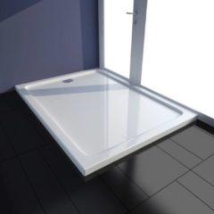 VidaXL Piatto doccia rettangolare in ABS bianco 80 x 110 cm