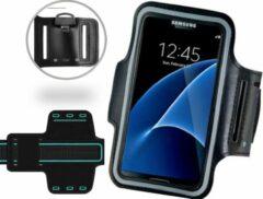 ICall Universele Spatwaterdichte Sportarmband voor smartphone - 5.5 inch - Waterproof - Zwart