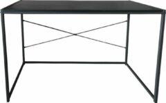 VDD Industrial Vintage Design Bureau Stoer - laptoptafel - computertafel - sidetable - 100 cm breed - zwart