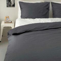 Antraciet-grijze Wehkamp home perkalkatoenen (hotel) dekbedovertrek 2 persoons
