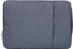 Mac-cover.nl 11.6 / 12 inch sleeve met extra vak - Donker blauw