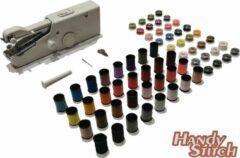 Witte Handy Switch Handy Stitch - PREMIUM Handnaaimachine met 64 Spoelen garen en accessoires