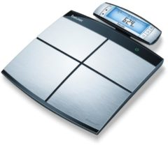Roestvrijstalen Beurer BF105 - Personenweegschaal lichaamsanalyse - Bluetooth - 180kg - RVS