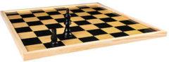 Longfield Schaakbord (64 velden) of dambord (100 velden) omkeerbaar 40 cm