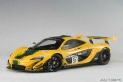 AutoArt 1/18 McLaren P1 GTR #51, Geel met groene accenten