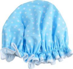 Lichtblauwe Vagabond Traditionele Engelse Douchemuts - Blue Stars
