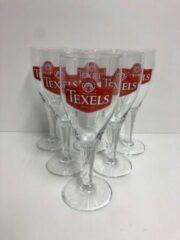 Transparante Texelse Bierbrouwerij Texels bierglas op voet doos 6x30cl bierglazen bier glas glazen voetglazen